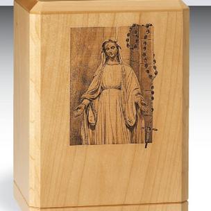 Virgin Mary With Rosary