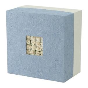 Embrace Biodegradable Urn - Floral Blue