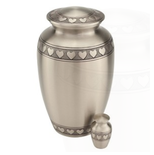 Band of Hearts Brass Urn
