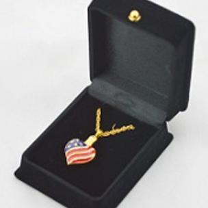 Heart Patriotic Gold