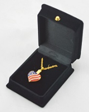 Heart Patriotic Gold