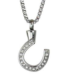 Horseshoe Crystal Pendant Necklace