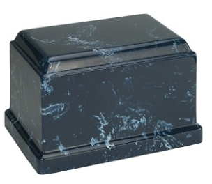 Navy Olympus Cultured Marble Urn