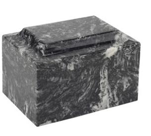 Ebony Classic Cultured Marble Urn