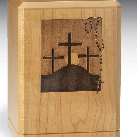 Three Crosses With Rosary