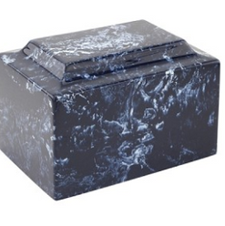 Navy Classic Cultured Marble Urn