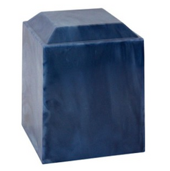 Magna Blue Cultured Marble Urn