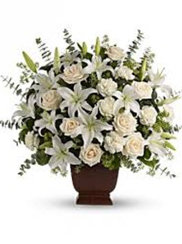 White Roses w/ Lily