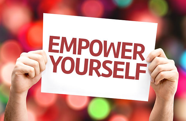 Empower Yourself card with colorful back