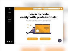 Codage d'une maquette web par un jeune développeur.