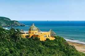 Built amid a landscape of lush jungle, r
