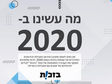 דוח סיכום פעילות לשנת 2020