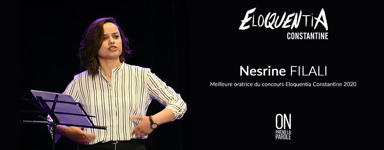 Nesrine Filali - Lauréate Eloquentia Constantine 2020
