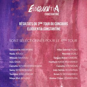 Résultats du 3e tour Eloquentia