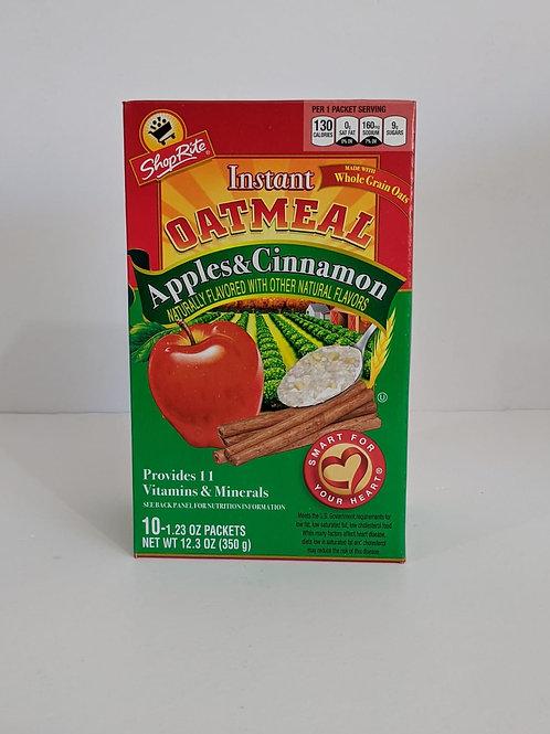 ShopRite Instant Oatmeal Apple & Cinnamon