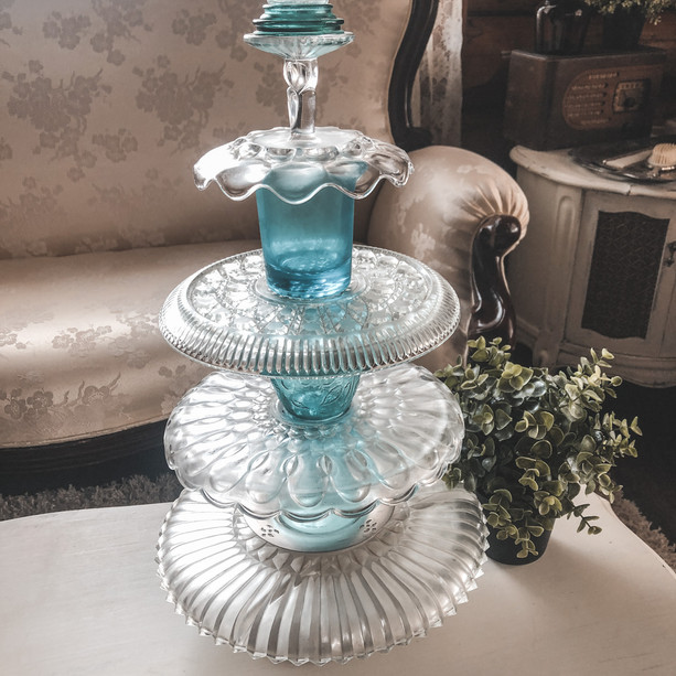 Blue Crystal Cupcake Stand
