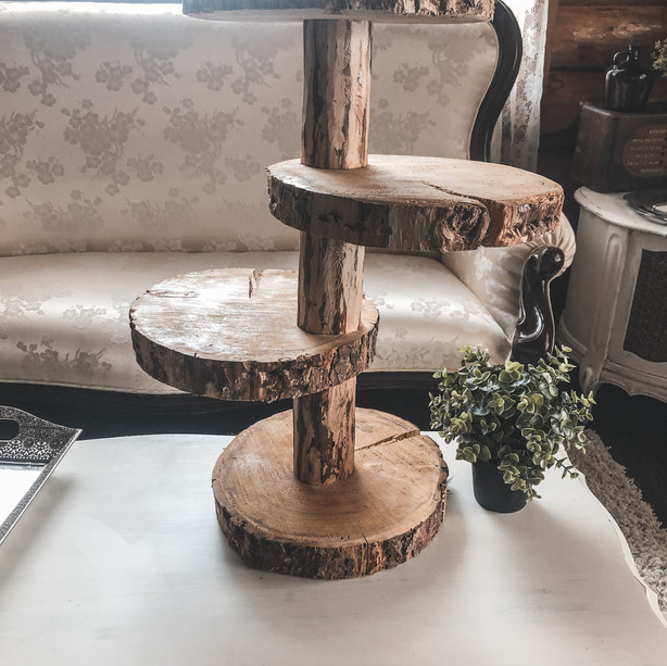3 Tier Wooden Cupcake Stand (2 Available)