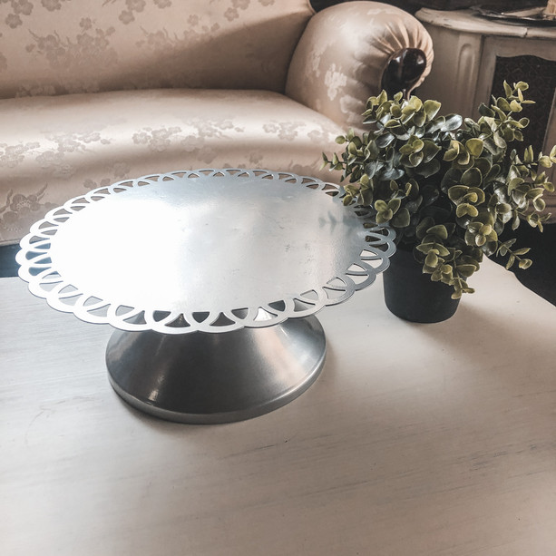 Silver Cake Stands (6 Available)