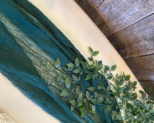 Hunter Green Cheesecloth Runner (20 Available)