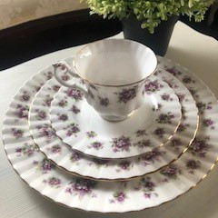 Head Table Plates ~ Purple Royal Albert (6 Sets Available)