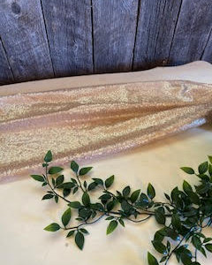 Rose Gold Table Runner ~ 5ft  (20 Available)