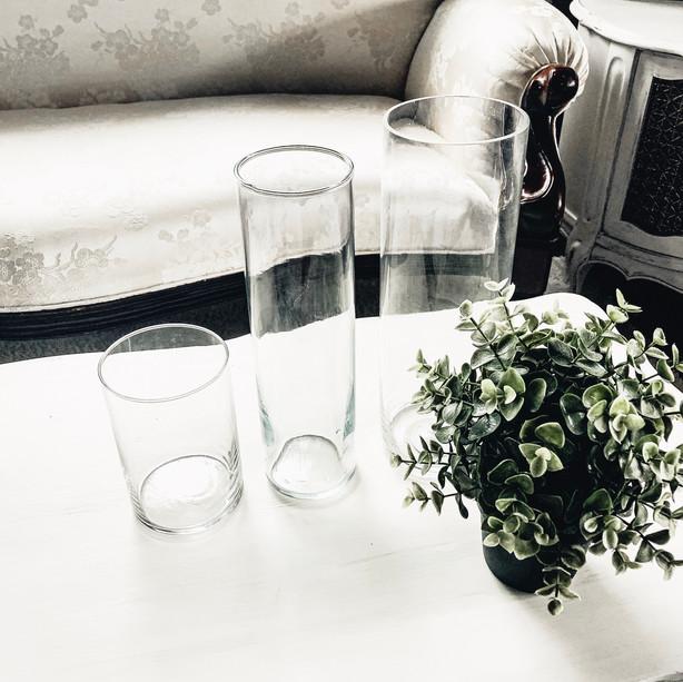 Glass Vases ~ 3 Sizes
