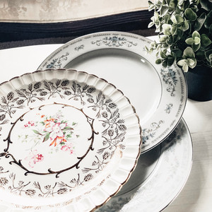 Assorted China Guest Plates