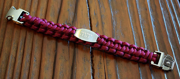 יהושע    𐤉𐤄𐤅𐤄   יהוה  Red Wine Paracord Bracelet
