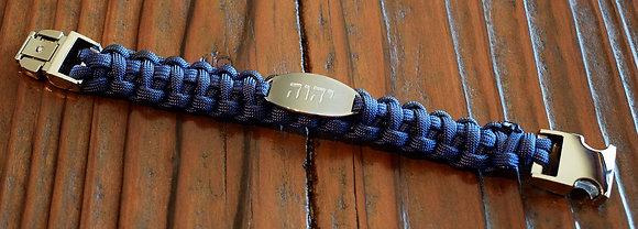 יהושע    𐤉𐤄𐤅𐤄   יהוה  Slate Blue Paracord Bracelet