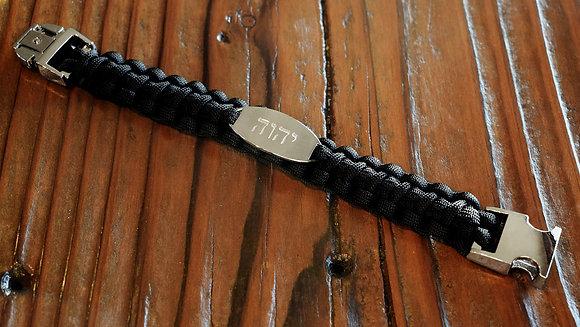 יהושע    𐤉𐤄𐤅𐤄   יהוה  Black Paracord Bracelet