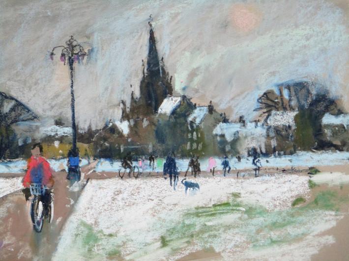 January on Parker's Piece