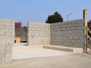 Commercial construction dumpster enclosure