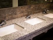 Commercial construction public bathroom sin