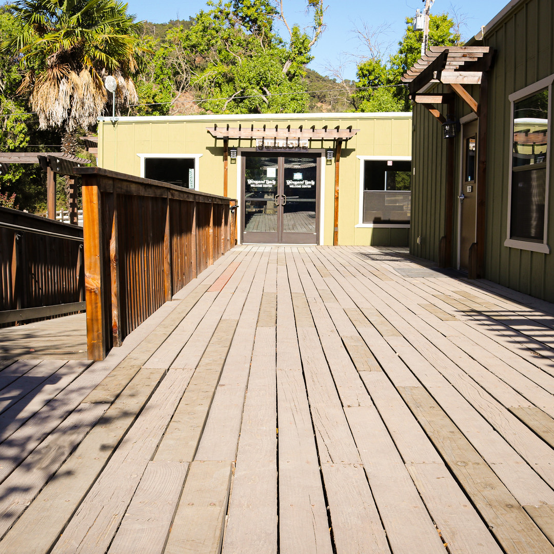 Commercial construction wooden deck