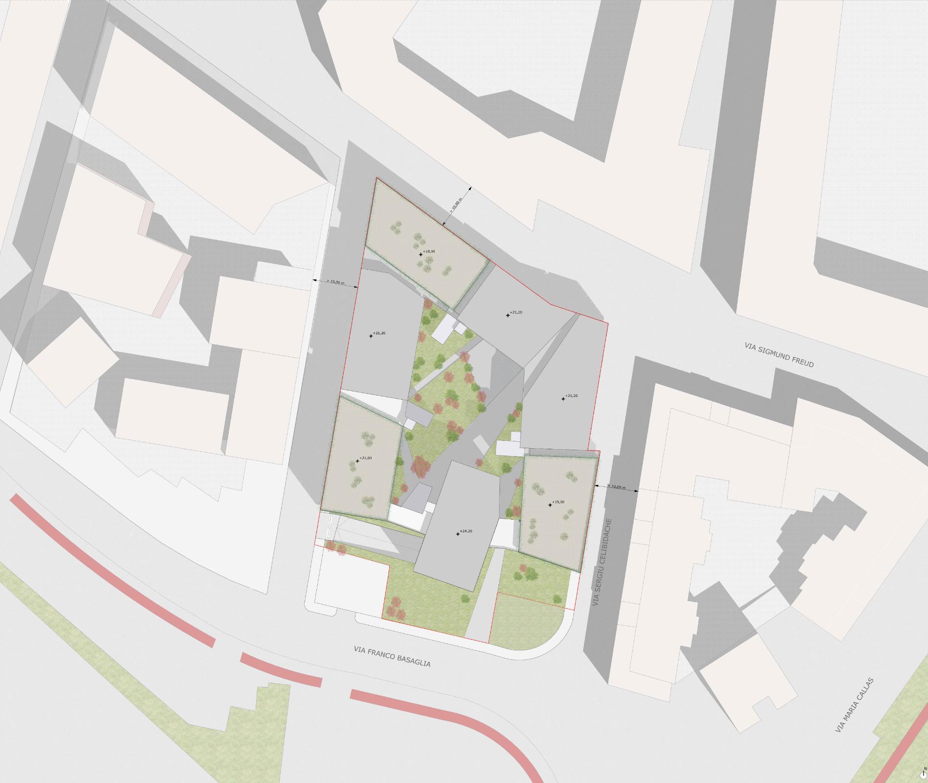 Lazzaretto - planimetria di progetto