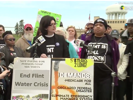 Residents, activists gather at treatment plant of 5th anniversary of Flint Water Crisis