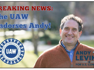 UAW Stands in Solidarity with Andy Levin for Congress