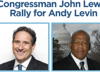 Community Rally with Congressman John Lewis and Andy Levin