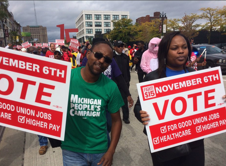 MI People's Campaign Joins Detroit Fast Food Workers to Strike for Union Rights
