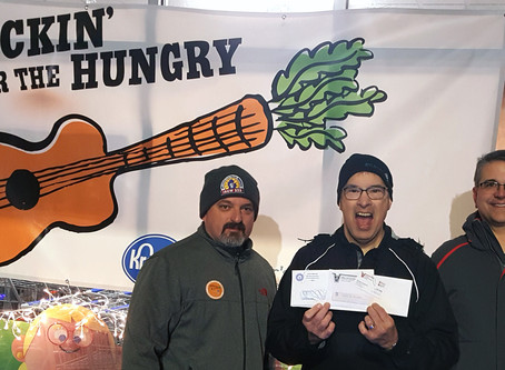 IBEW 252 and NECA Donate $4,000 to Rockin' for the Hungry campaign
