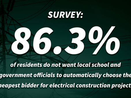 New Survey Shows Residents Don't Want Cheapest Bidder on Government Construction Projects