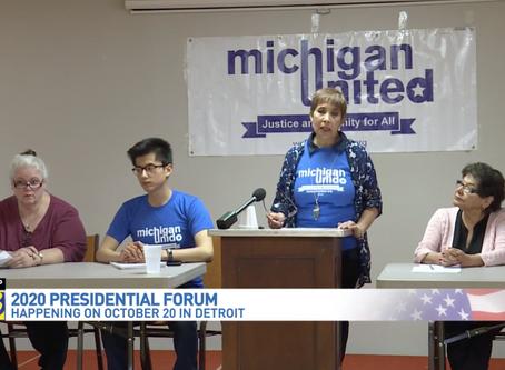 Michigan United plans major presidential forum in Detroit