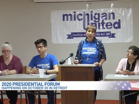 Michigan United plans major presidential forum in Detroit