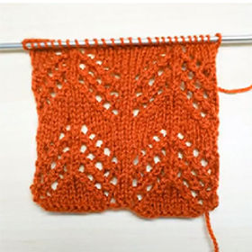 A Trio of Zigzag Stripes made using Yarn Over Eyelets
