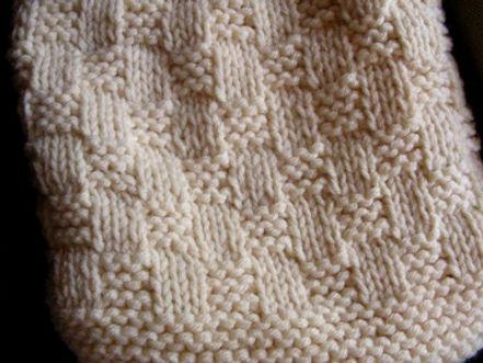 Basketweave Stitch Pattern