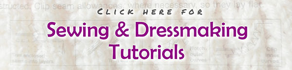 Banner - Sewing & dressmaking tutorials.