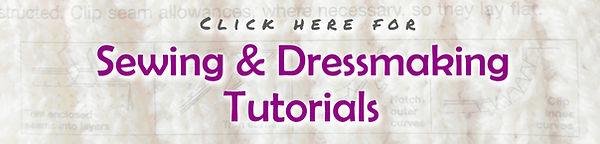 Banner - Sewing & dressmaking tutorials.