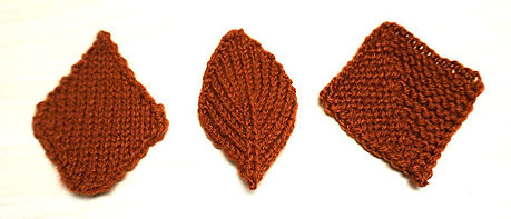 How to Knit Diamond Shapes