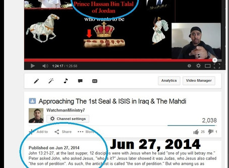 Jun 2014 Prophecy - Fulfilled Sept 2014