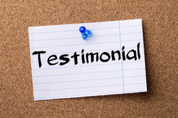 Testimonial - Teared Note Paper Pinned O